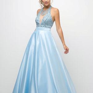 Ballgown Jeweled Long Evening Dress CDUM073
